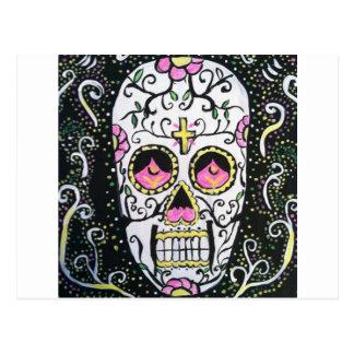 Cráneo del azúcar tarjeta postal