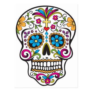 Cráneo del azúcar tarjetas postales