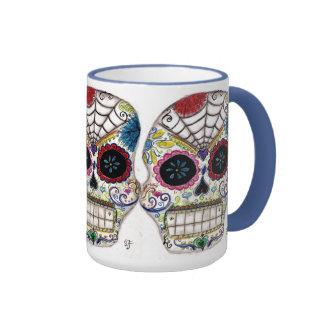 Cráneo del azúcar taza de café