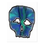 Cráneo del azul y de la turquesa postales