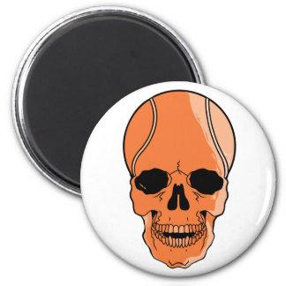 Cráneo del baloncesto imán redondo 5 cm