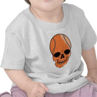 Cráneo del baloncesto camisetas
