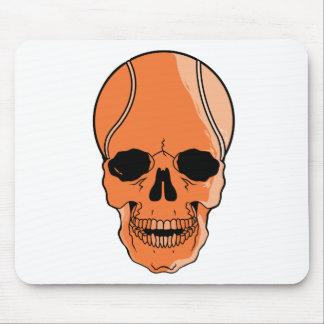 Cráneo del baloncesto tapete de ratón