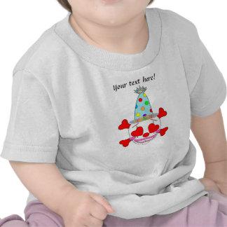 Cráneo del bebé del payaso del fiesta camisetas