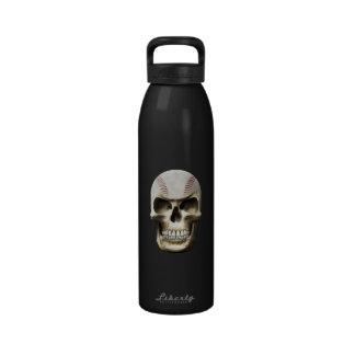Cráneo del béisbol botella de beber