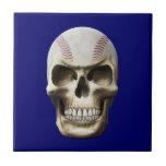 Cráneo del béisbol azulejo ceramica