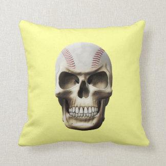 Cráneo del béisbol cojin