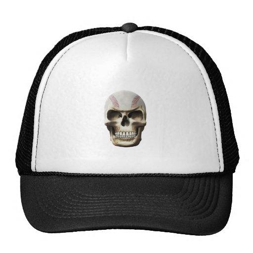 Cráneo del béisbol gorros bordados