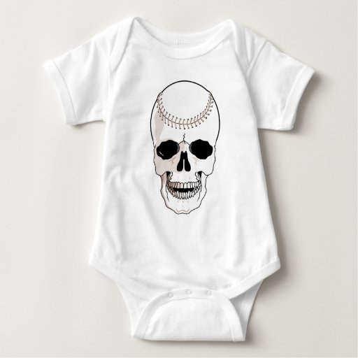 Cráneo del béisbol mameluco de bebé