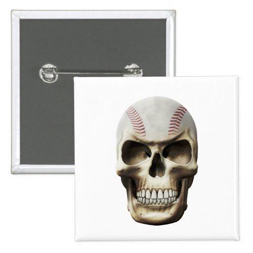 Cráneo del béisbol pin