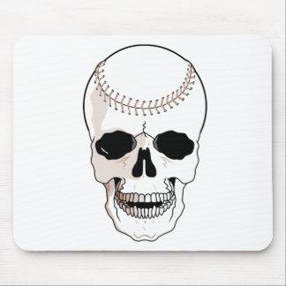 Cráneo del béisbol tapetes de raton