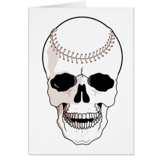 Cráneo del béisbol tarjetón