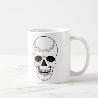 Cráneo del béisbol taza de café