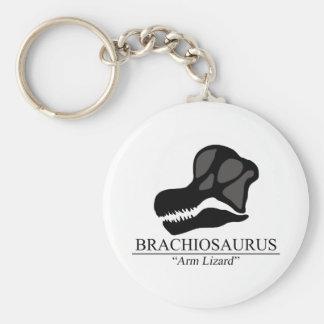Cráneo del Brachiosaurus Llavero Redondo Tipo Pin