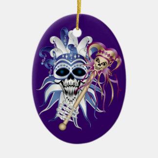 Cráneo del bufón ornamentos para reyes magos
