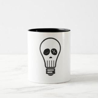 Cráneo del bulbo taza de café de dos colores