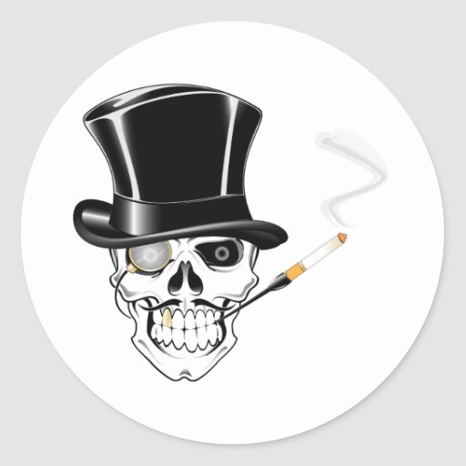 Cráneo del caballero pegatina redonda
