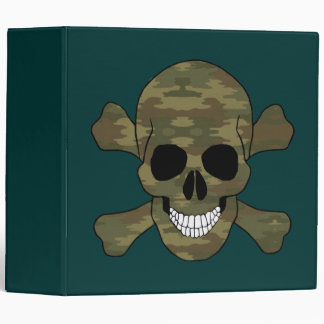 Cráneo del camuflaje y carpeta de la bandera
