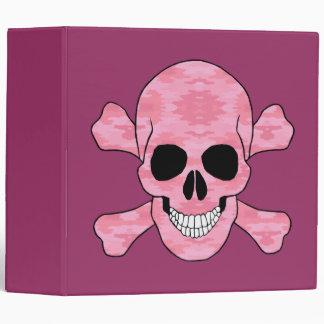 Cráneo del camuflaje y carpeta rosados de la