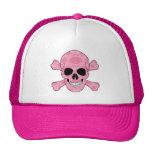 Cráneo del camuflaje y gorra rosados de la bandera