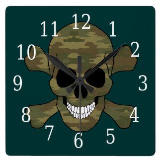 Cráneo del camuflaje y reloj de la bandera pirata