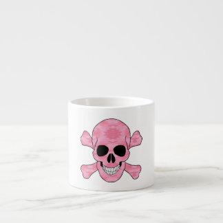 Cráneo del camuflaje y taza rosados de la bandera taza espresso