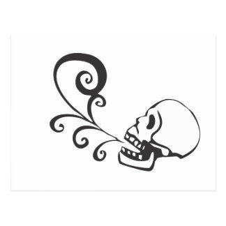 Cráneo del canto postal