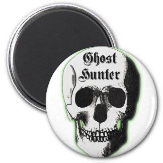Cráneo del cazador del fantasma imán redondo 5 cm