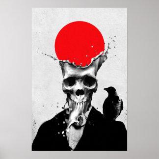 Cráneo del chapoteo póster