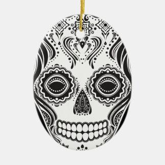 Cráneo del chica de Dia de los Muertos That Ornamento Para Reyes Magos