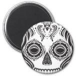 Cráneo del chica de Dia de los Muertos That Imán De Nevera