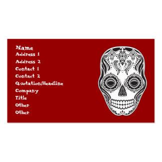 Cráneo del chica de Dia de los Muertos That Plantillas De Tarjetas De Visita