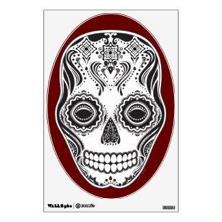 Cráneo del chica de Dia de los Muertos That Vinilo Decorativo
