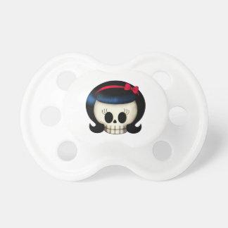 Cráneo del chica del Rockabilly Chupete De Bebe