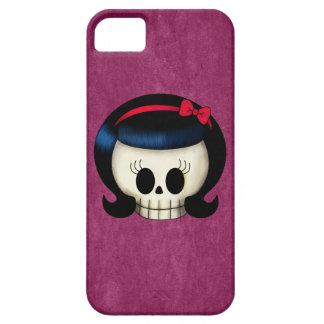 Cráneo del chica del Rockabilly iPhone 5 Case-Mate Cárcasa