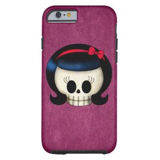 Cráneo del chica del Rockabilly Funda De iPhone 6 Tough