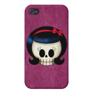 Cráneo del chica del Rockabilly iPhone 4/4S Carcasa