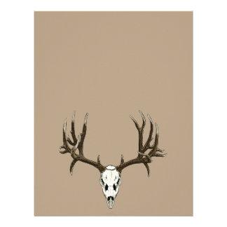 Cráneo del ciervo mula membrete a diseño
