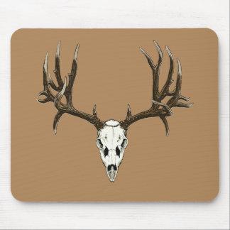 Cráneo del ciervo mula tapete de ratón