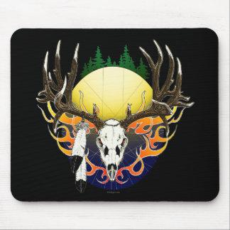 Cráneo del ciervo mula tapete de ratones