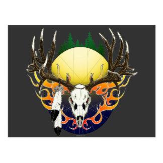 Cráneo del ciervo mula tarjetas postales