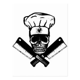 Cráneo del cocinero (B&W) Postal