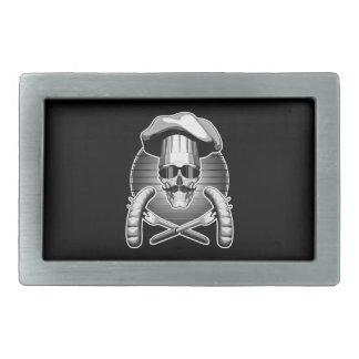 Cráneo del cocinero: Barbacoa Hebillas Cinturón Rectangulares