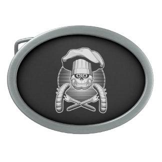 Cráneo del cocinero: Cookout Hebillas De Cinturon Ovales