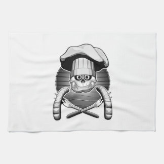 Cráneo del cocinero: Cookout Toallas De Mano