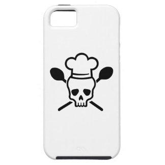 Cráneo del cocinero del cocinero iPhone 5 Case-Mate carcasa