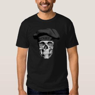 Cráneo del cocinero del gorra negro playera