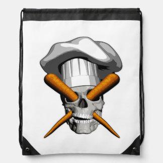 Cráneo del cocinero del vegano mochilas