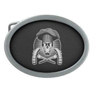 Cráneo del cocinero: Griller Hebilla Cinturon Oval