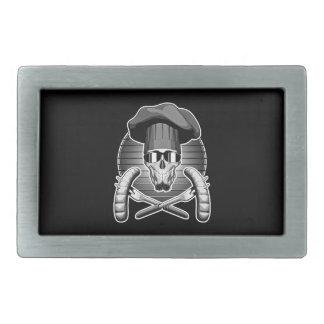 Cráneo del cocinero: Griller Hebilla De Cinturón Rectangular